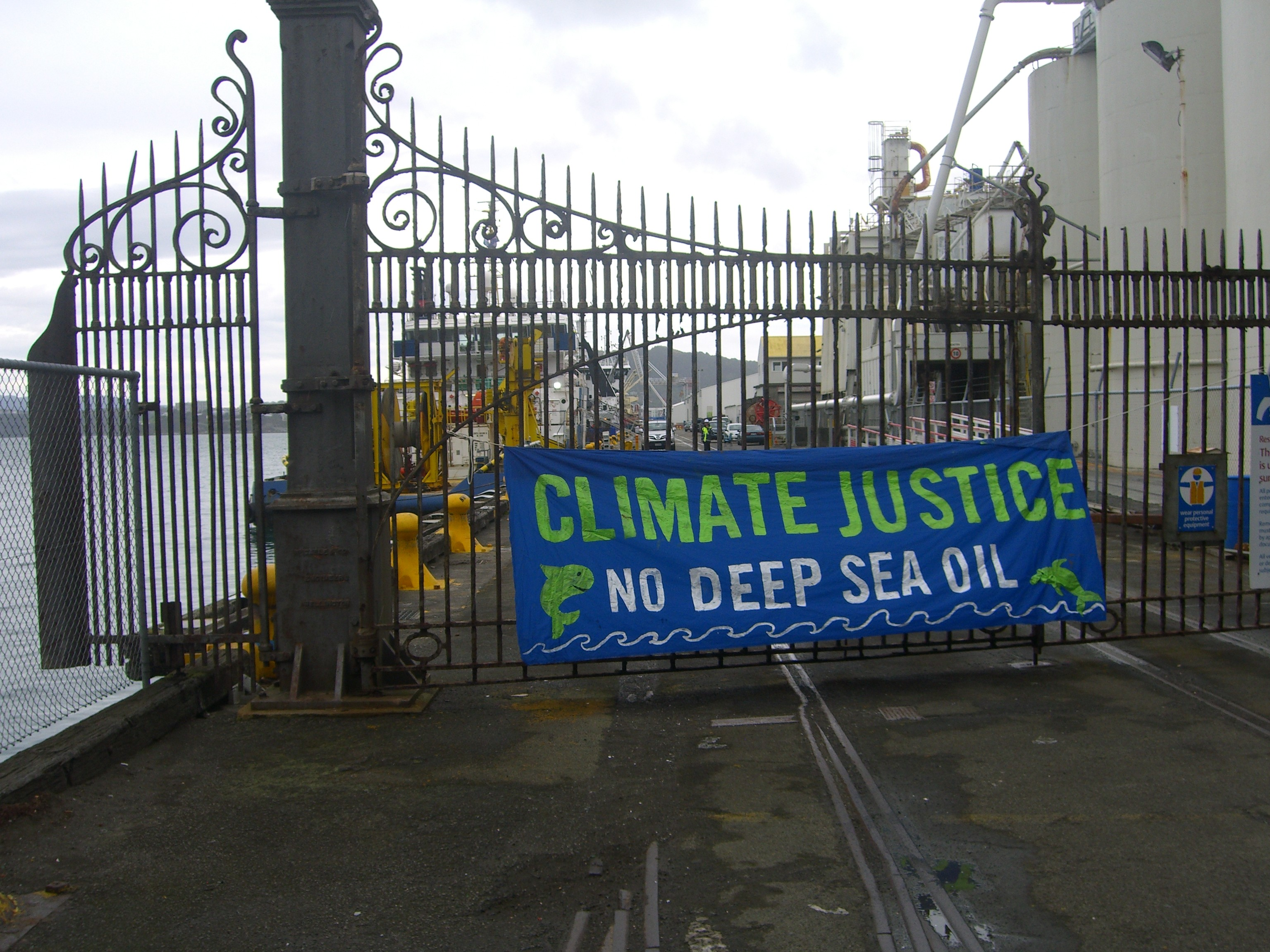 A message of climate justice to the Maria G oil ship